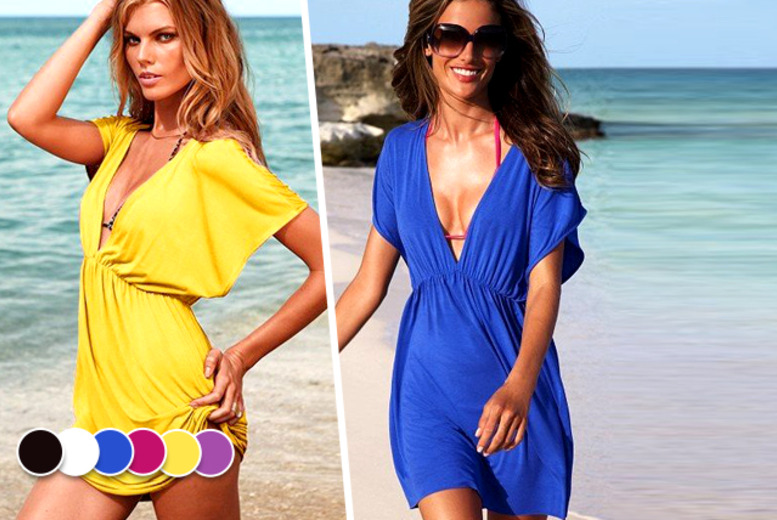 £7.99 instead of £34.99 (from Fizzy Peach) for a beach kaftan dress in a choice of 6 colours - get ready for summer in style and save 74%