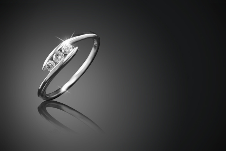 £249.99 instead of £599 (from Bijouamour) for a fifth carat diamond ring made from white gold - save 58%