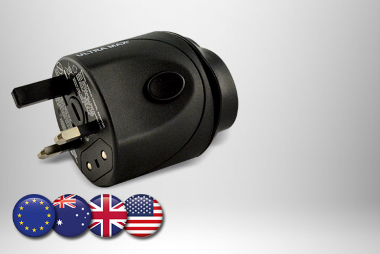 £6.99 instead of £19.99 (from AMS Global) for a universal travel adapter, £12.99 for 2 - save up to 65%