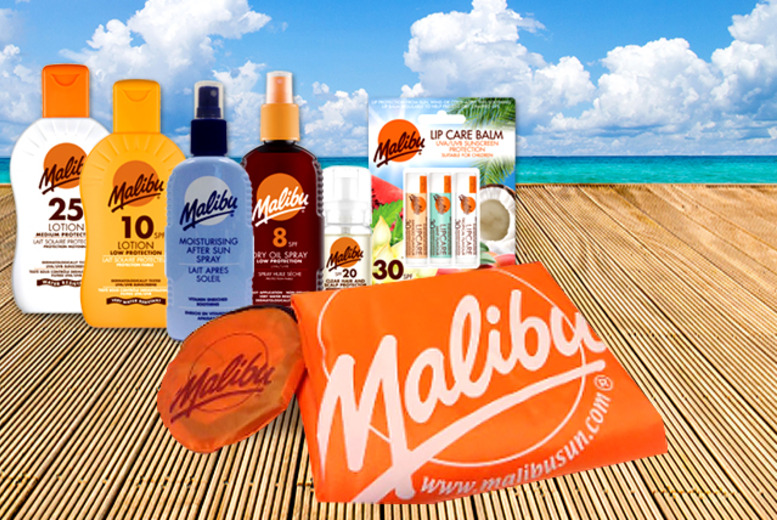 £16 instead of £30.22 (from Malibu Sun) for a 7-piece Malibu Sun holiday essentials kit – save 47%