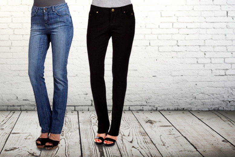 £29.99 for a pair of Ruby London super skinny ink black jeans, or £39.99 for mid-rise heritage wash jeans from Wowcher Direct!