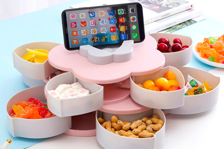 £10.99 instead of £39.99 for a single layer petal-shaped snack tray or £17.99 for a double layer tray from Topgoodchain - save up to 73%