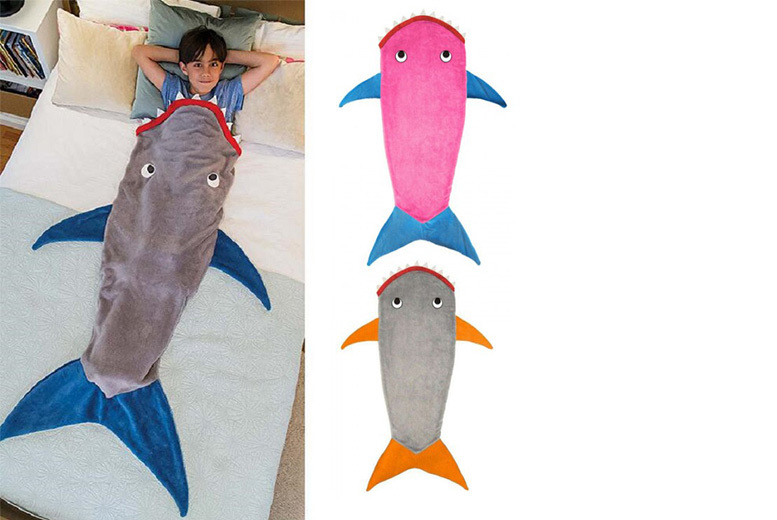 £9.99 instead of £56 (from EFMall) for a kids' shark tail blanket – save 82%