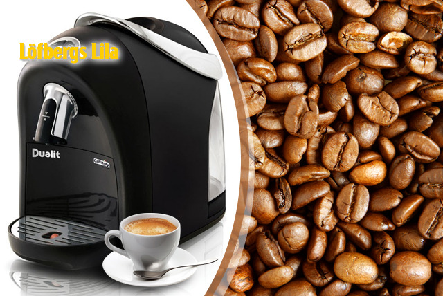 £79 instead of £158.20 (from Löfbergs UK) for a Dualit Louise Coffee Capsule Machine & 160 FairTrade capsules - save 50%