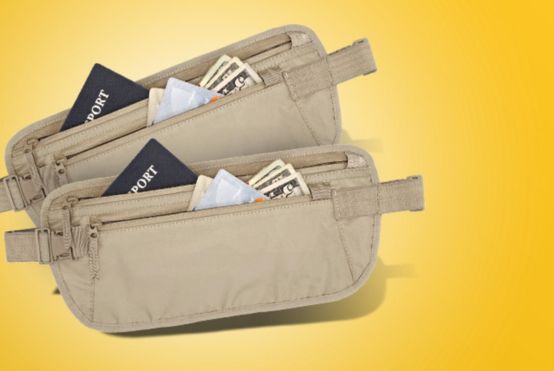 £6 instead of £35.98 (from 121 Mart) for two travel money belts - save a belting 83%