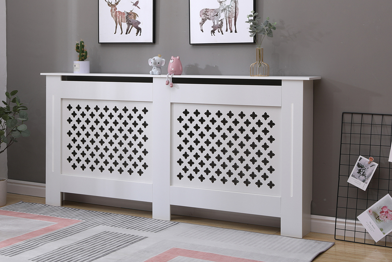 From £24 instead of £42.99 for a small Malton white radiator cover, choose from four sizes from Dreams Outdoors – save up to 44%