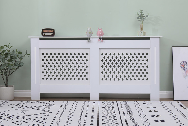 From £24 for a small Cambridge white radiator cover, choose from four sizes from Dreams Outdoors - save up to 44%