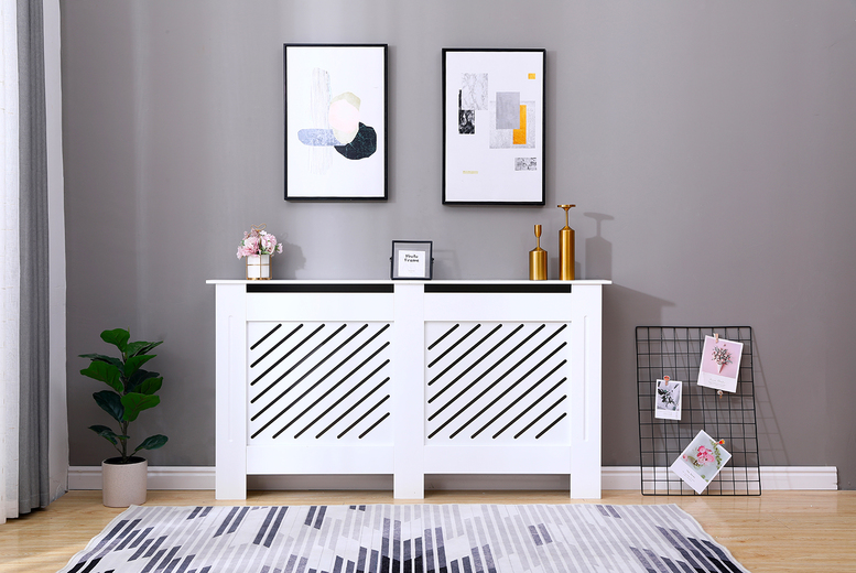 From £27 instead of £42.99 for a Milford small white radiator cover, £36 for a medium, £47 for a large or £52 for an extra-large from Dreams Outdoors - save up to 37%