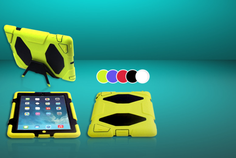 £12.99 instead of £27.99 (from TIME 2) for a shockproof iPad case and stand for iPad 2, 3 and 4 - choose from 5 colours and save 54%