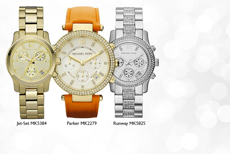 From £145 instead of up to £209 for a silver or gold Michael Kors watch in a choice of styles - save up to 31%