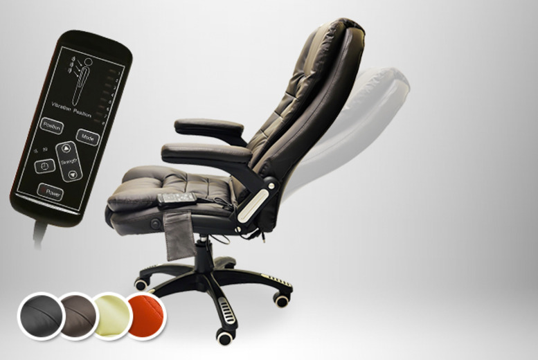 £89.99 (from Tiny Home Store) for a reclining leather swivel chair with 8 massage functions + delivery is included!