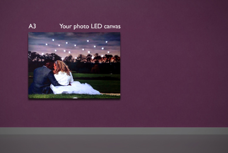 £12.50 instead of £29.99 (from the LED Canvas Company) for a personalised A3 LED canvas - save 58%