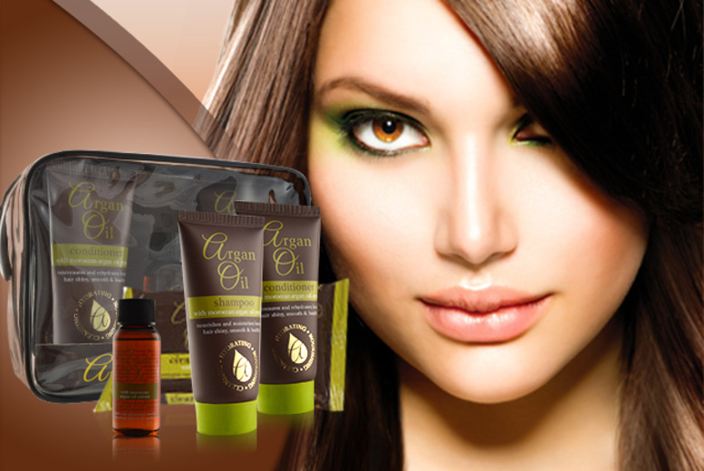 £7 instead of £14.99 (from Georgina's) for an Argan oil travel set inc. shampoo, conditioner, hair treatment & Argan wipes - save 53%