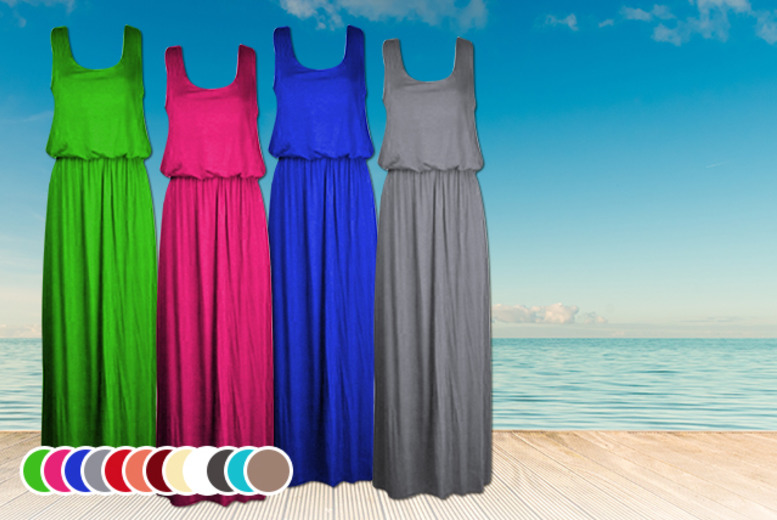 £9.99 instead of up to £19.99 (from Something About Fashion) for a sleeveless toga maxi dress in a choice of 13 colours -  save up to 50%