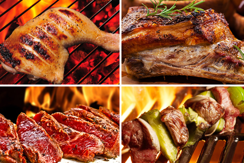 From £19 (from Highland Foods) for a BBQ hamper inc. beef burgers, sirloin steaks, chicken wings, marinated pork ribs and more - save up to a sizzling 53%