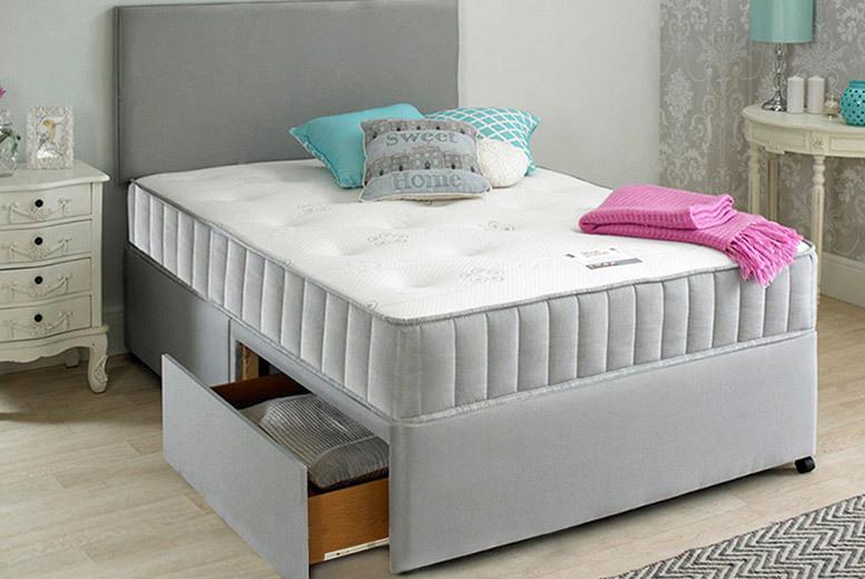 Divan Bed, Pocket Mattress, Headboard