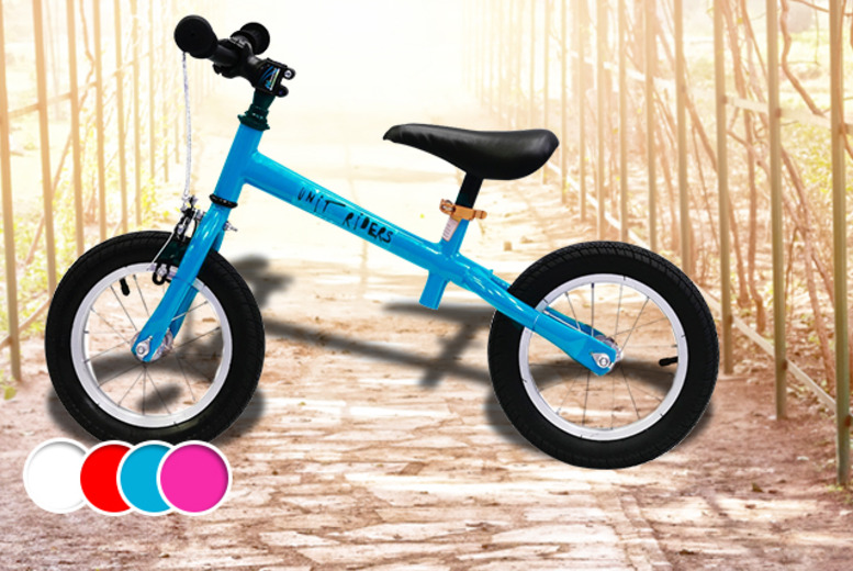 £24.99 instead of £75 (from The Unit Skatepark) for a child's balance bike in blue, pink, red or white - save 67%