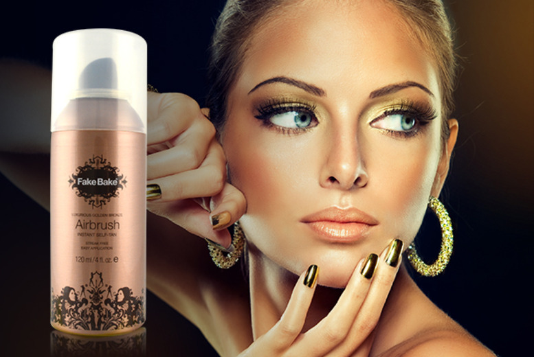 £12 instead of £55.90 for 2x 210ml Fake Bake Airbrush instant self-tan sprays from Wowcher Direct - save 79% + DELIVERY INCLUDED!