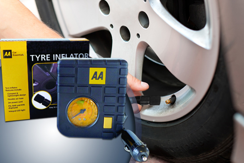 £9.99 instead of £19.99 (from AMS Global) for an AA tyre inflator - save 50%