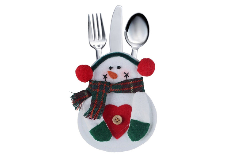 £3.99 for a set of four Christmas decorative cutlery holders, £8.49 for a pack of eight or £11.99 for a pack of 12 from Bellap