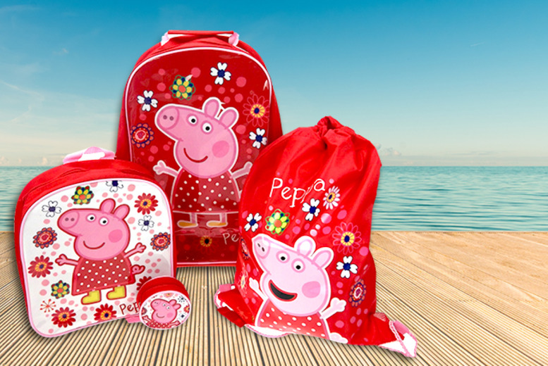 £12.99 instead of £30 for a 4-piece Peppa Pig luggage set from Wowcher Direct - let your littl'un travel in style and save 57%