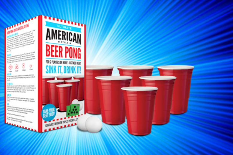 £4.99 instead of £10 (from Gadget Inspector) for an 'ultimate American style' Beer Pong set - save 50%
