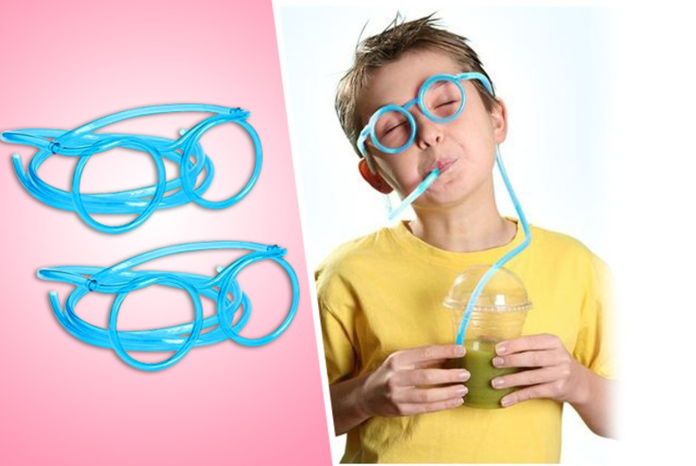 £4 instead of £11.99 (from Emyub) for two pairs of drinking straw glasses, £6 for four pairs, or £10 for eight pairs - save up to 67%