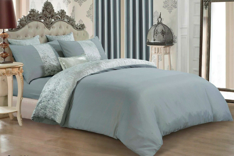 From £12.99 (from Home Decoration World) for a crushed velvet panel bedding set – choose from five colours and save 57%