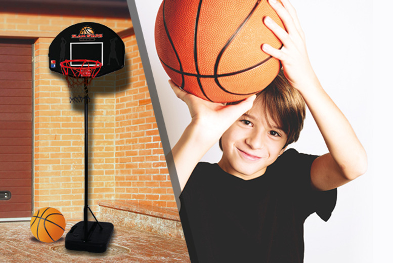 £29.99 instead of £49.06 (from Wowcher Direct) for a 6-piece junior basketball set inc. hoop, stand, basketball and more - save 39%