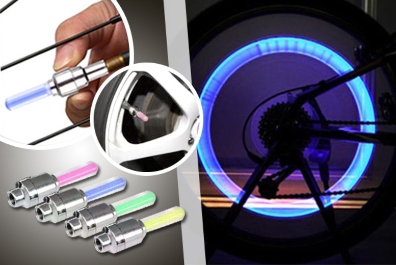 £5 instead of £24.99 (from Emyub) for 4x LED car or bicycle wheel lights in a choice of colours - save 80%