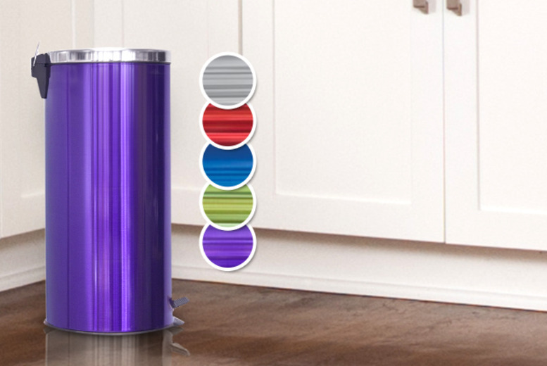 £18 instead of £49.99 (from SQ Professional) for a metallic pedal bin in a choice of 5 colours - save 64%