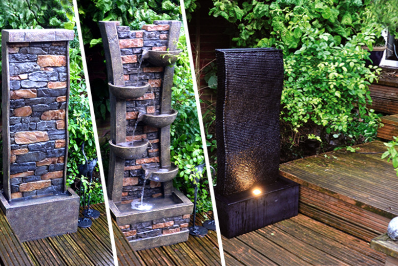 £119.99 for a choice of outdoor water features including ripple, cascading water and stone effect from Wowcher Direct!