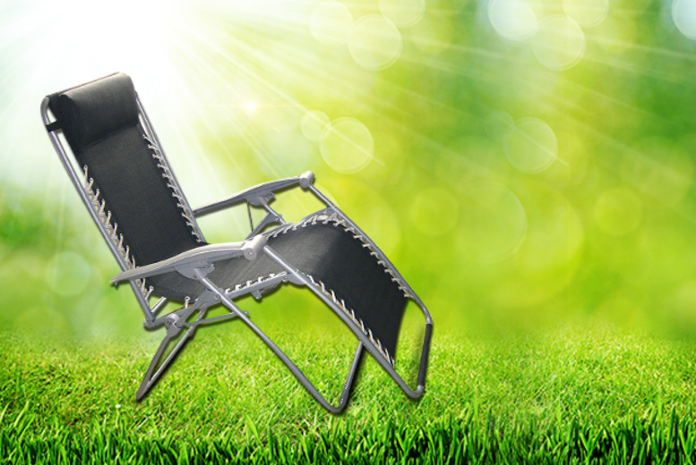 £39.95 instead of £99.99 (from HTG Direct) for an anti-gravity reclining garden chair lounger - save 60% + DELIVERY INCLUDED