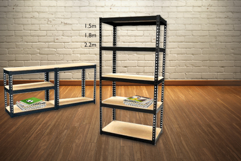 £24.99 instead of £39.99 (from SS Superstore) for a 1.5m five-tier shelving set, £32.99 for 1.8m unit or £39.99 for a 2.2 unit - save up to 38%
