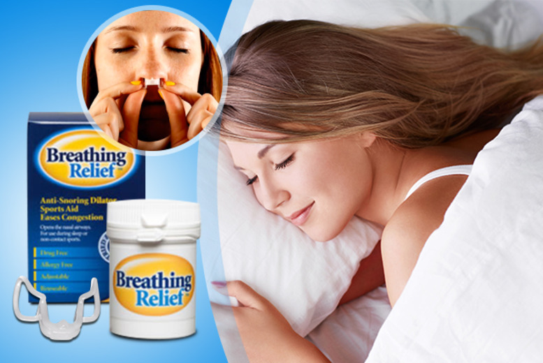£9 instead of £20 (from Breathing Relief™) for a nasal dilator for snoring relief, sports and more - save 55%
