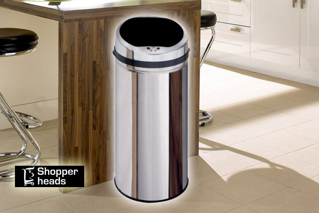 £39.99 instead of £99 (from Shopperheads) for a 50 litre stainless steel auto sensor kitchen bin – save 60%