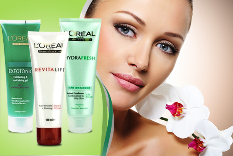 £6.99 instead of £26.97 (from Look 'n' Style) for a 3-piece L'Oréal skincare set - save a glowing 74%