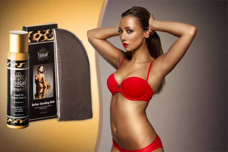 £9.99 instead of £37.98 (from Cougar Products) for a 150ml tanning mist and mitt, £19.99 inc. Diamond Dust - save 76%
