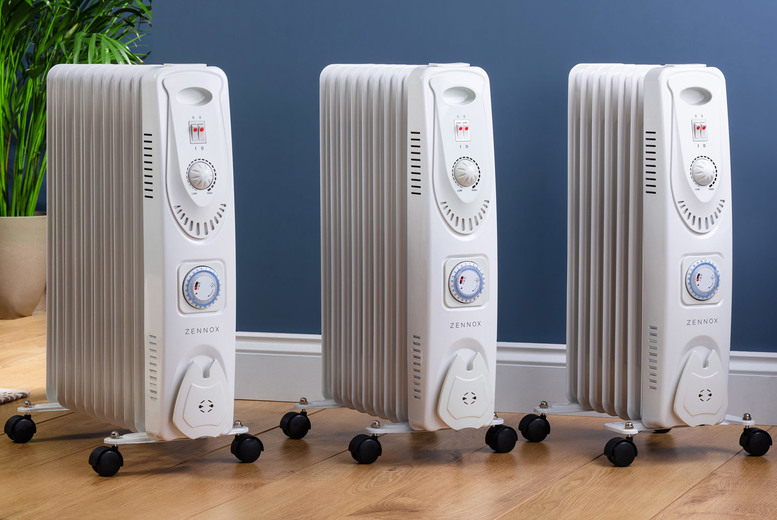 From £34.99 instead of £99.99 for a Zennox oil filled heater in 1500w, 2000w or 2500w from CJ Offers - save up to 65%