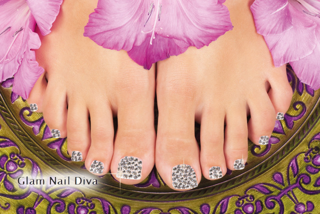 £34 instead of £95 for a Swarovski Elements crystal pedicure at Glam Nails Diva, Islington – save stunning 71%