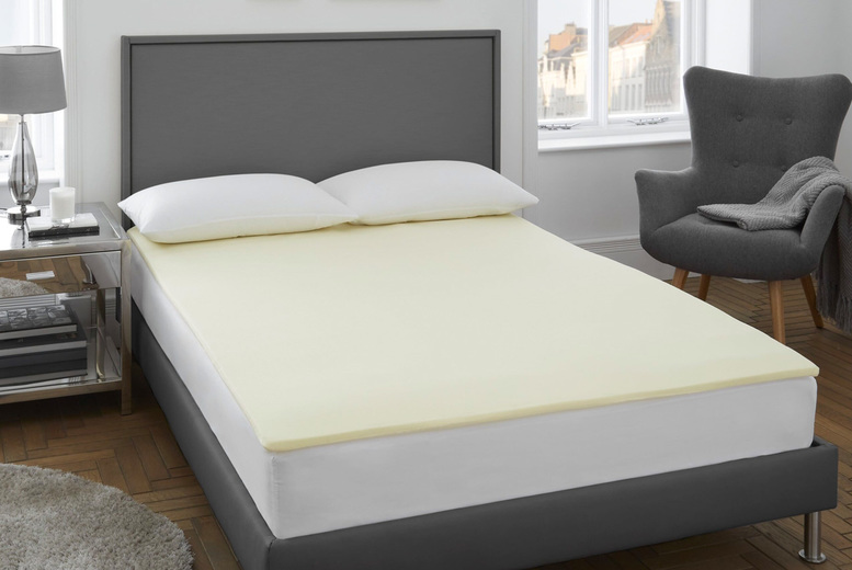 From £18.99 instead of £63.99 for a 2cm-thick memory foam mattress topper, from £31.99 for a 4cm-thick memory foam mattress topper from Victoria Home Living - save up to 70%