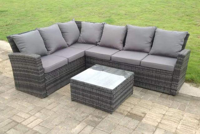 6-Seater Rattan Garden Furniture Set Offer | Shop | Wowcher
