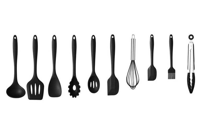 £14.99 instead of £49.99 for a ten-piece silicone kitchen utensil set from VivoMounts – save 70%