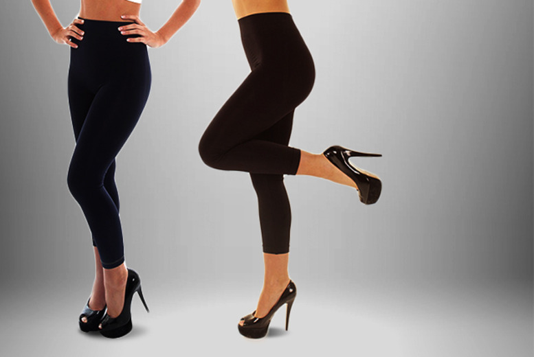 £7 instead of £16.05 for a pair of Body Contour control leggings from Wowcher Direct - choose from 2 designs and save 56%