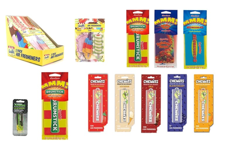 £5.99 for a set of six assorted retro sweet car air fresheners from GB Gifts