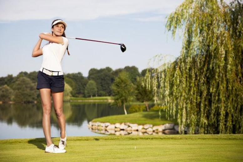 £19 for 18 holes of golf for 2 people inc. 50 range balls each, or £32 for 4 people at The Kent and Surrey Golf Club - save up to 71%