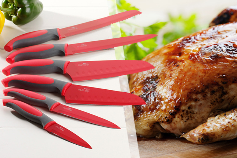 £9.99 instead of £24 (from ProCook) for a red ProCook 6-piece culinary set - save 58%