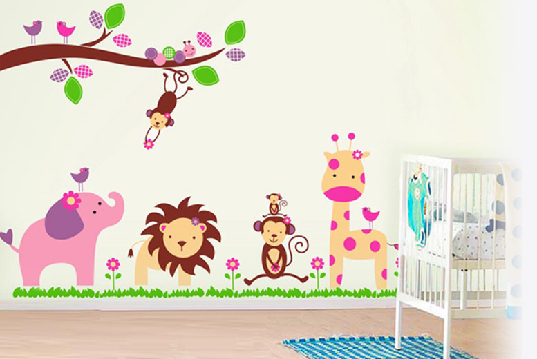 £5.99 (from Walplus) for flowers, butterflies or pink monkey blossom children's wall stickers, £7.99 for elephant, dandelion or cherry blossom- save up to 62%