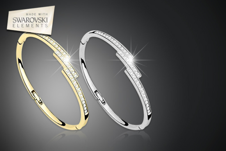 £10 instead of £49 (from Moonshine Boutique) for a Swarovski Elements Vertex bangle in your choice of colour - save 80%