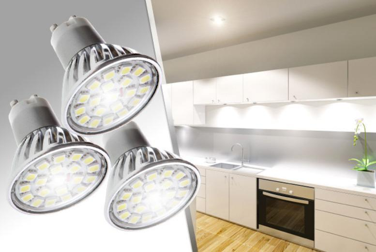 £14.99 instead of £75 (from LEDLive) for a pack of 3 GU10 LED spotlights, £26.99 for 6 or £49.99 for a pack of 12 - save up to 80%